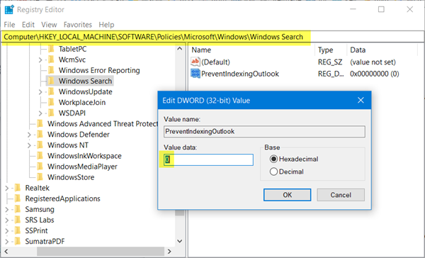 Outlook 2016 Search Greyed Out - MS Outlook Search Not