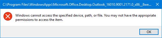 Scanpst exe can't be found when Outlook installed from Microsoft Store