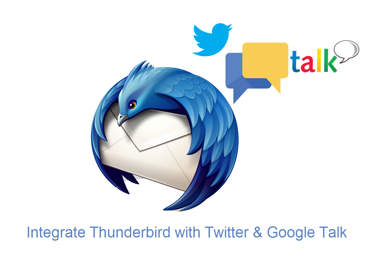 How to Integrate Thunderbird with Twitter & GTalk Account