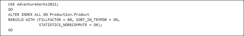 Alter Index SQL Server