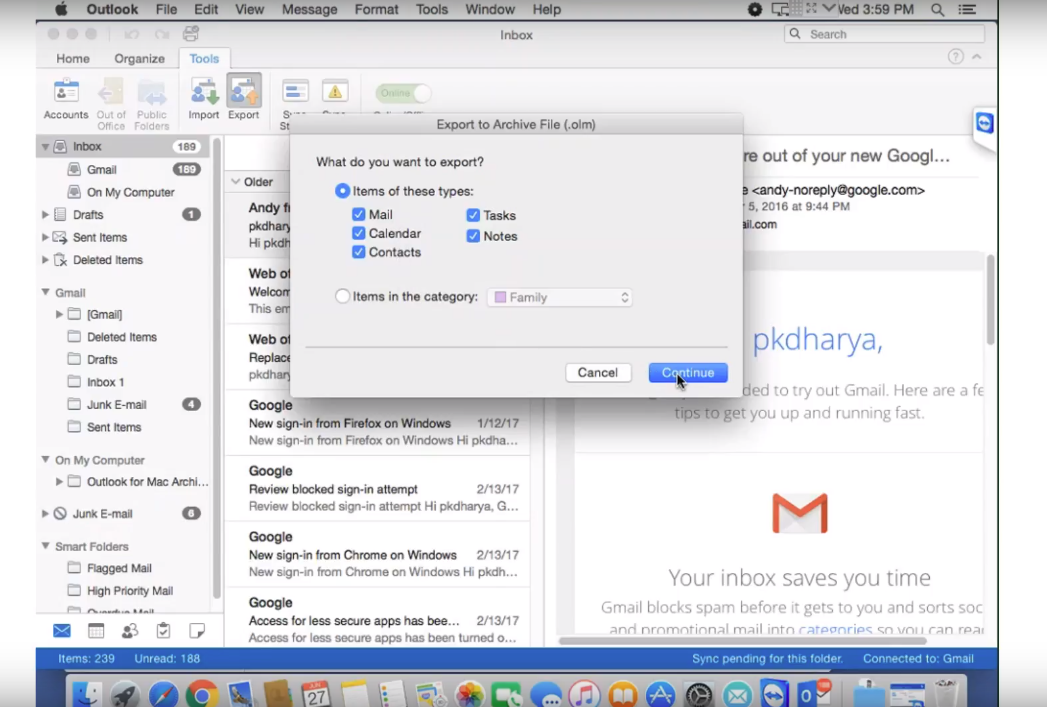 How to Archive Email in Outlook 2016 & 2011 for Mac with