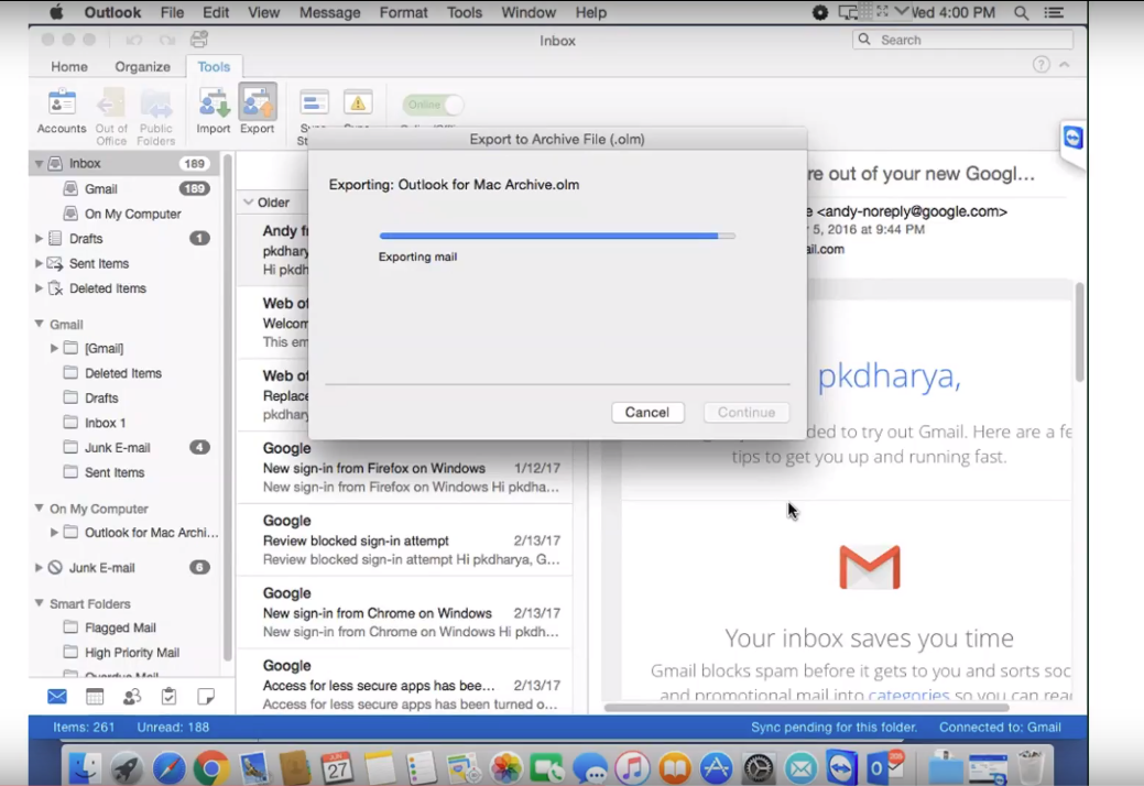 how to create archive folder in outlook 2016 for mac