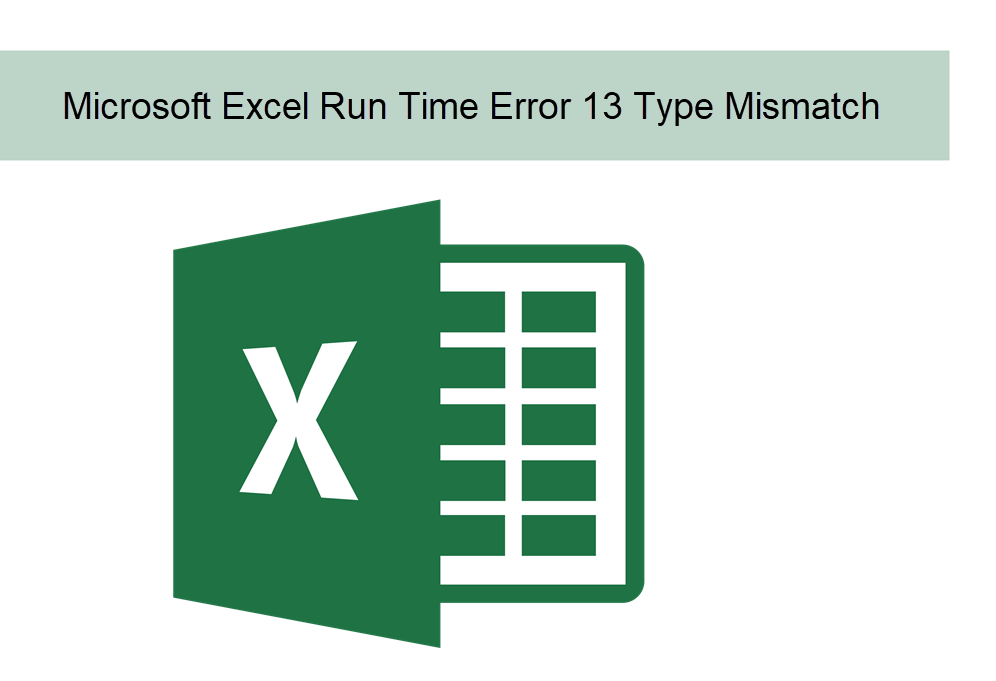Microsoft Visual Basic Runtime Error 13 Type Mismatch in