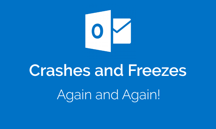 Outlook Crashes on Send & Receive in Outlook 2016, 2013, 2010, 2007
