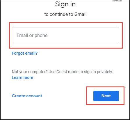 Sign-in to Google mail