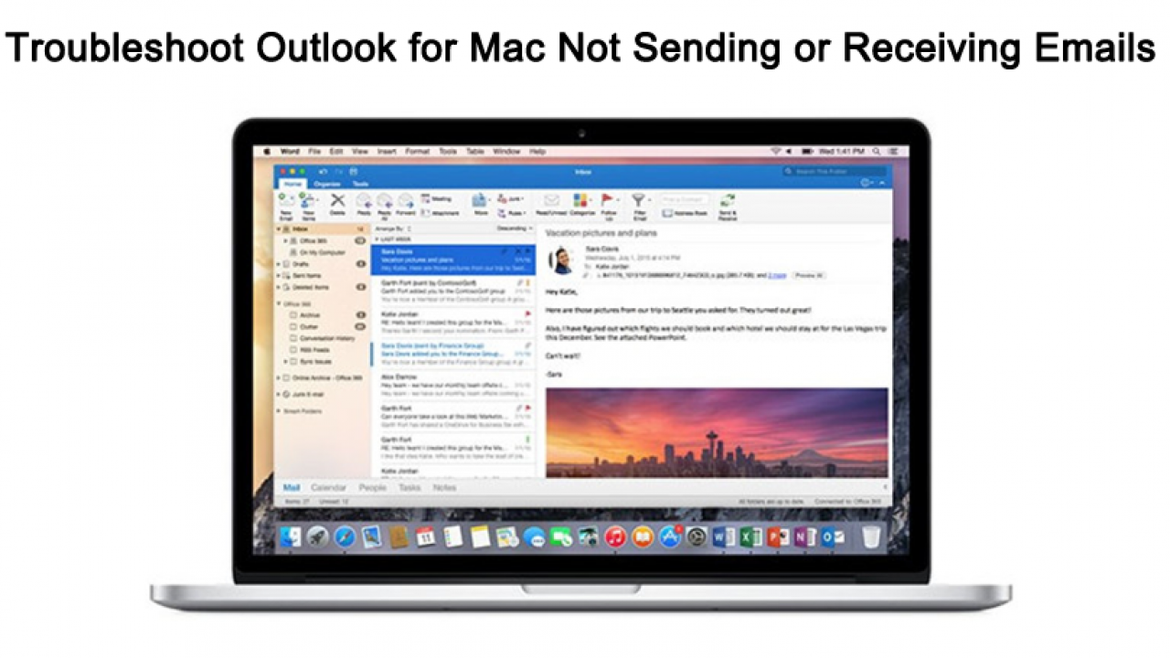 Troubleshoot Outlook for Mac Not Sending or Receiving Emails - Top 6
