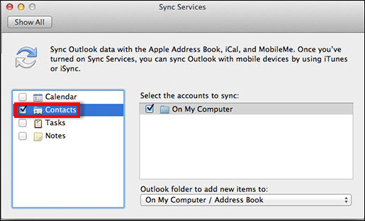 Beginners Guide to Sync Outlook 2011 Contacts With Mac Address Book