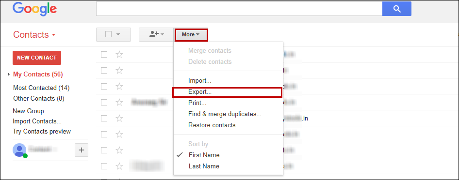 after that in the next window select all contacts and outlook csv format options