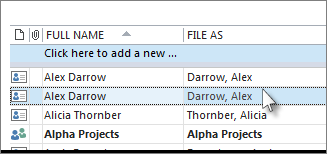 merge Outlook contacts after removing duplicates