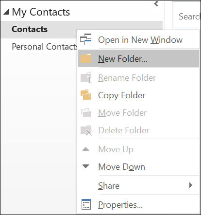 outlook 2016 how to delete a group