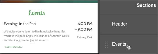 Display Events