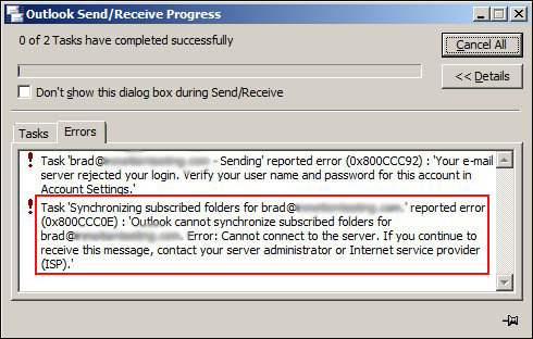 Solved] Outlook Error Code 0x800ccc0e in a Few Steps