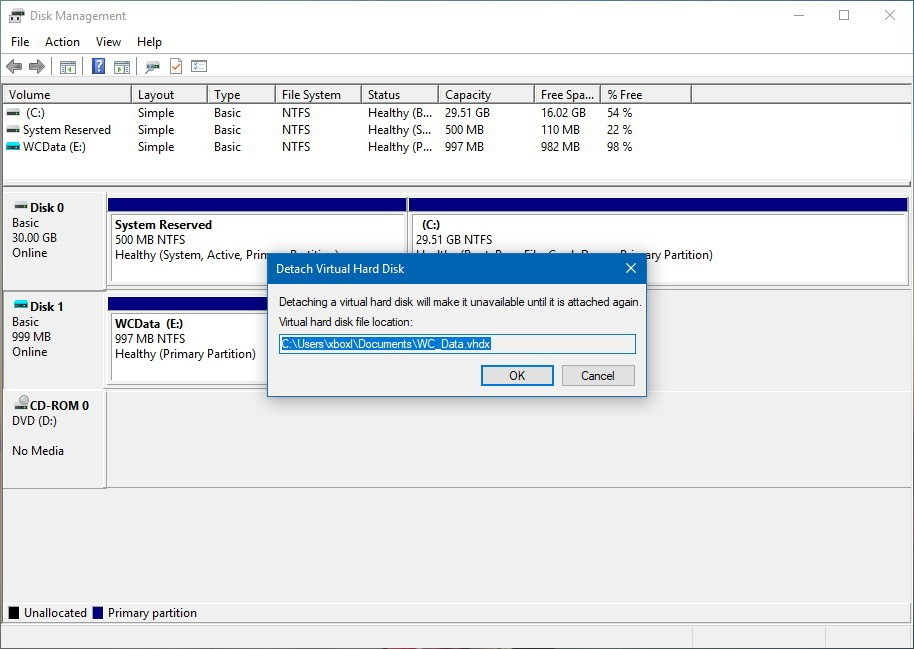How to Create and Mount VHD / VHDX File in Windows 10 – Step by Step