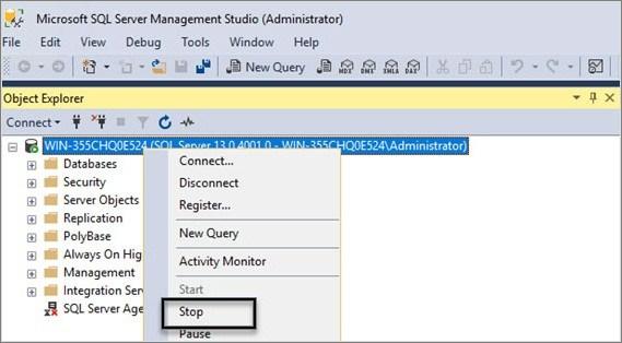 SQL Server Error 5171
