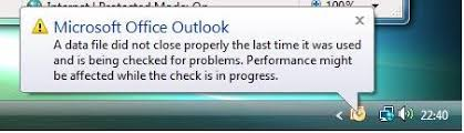 How to Fix Outlook Data File not Closed Properly Issue: 6