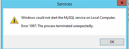 Resolved Error 1067 The Process Terminated Unexpectedly SQL