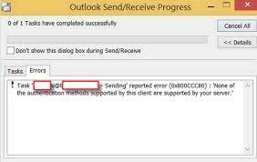 Sending & Receiving Reported Error 0x800CCC80