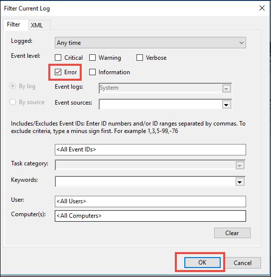 View Error Log Windows 7: Windows Event Viewer To View Crash Log Error In Windows 10