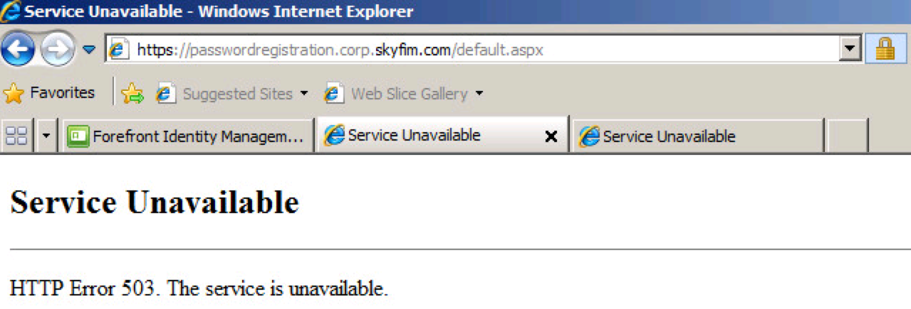 Fix Exchange 2013 HTTP Error 503 - The Service is Unavailable