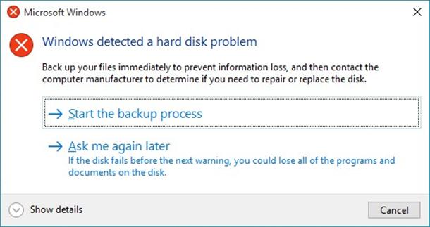 Resolve Windows Detected Hard Disk problem Backup Files ...