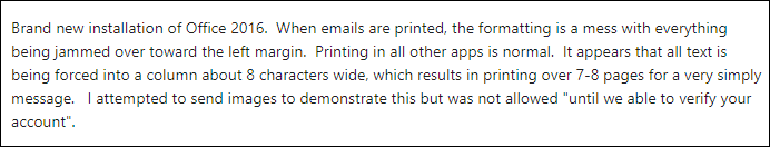 Microsoft Outlook Mail Printing Problem – How to Print