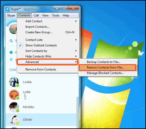 How to Import Outlook Contacts to Skype for Business Account