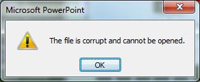 File is Corrupt Error