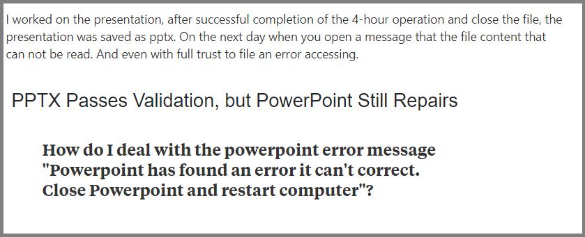 Powerpoint Errors