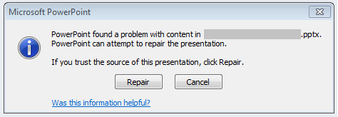 Fixed] PowerPoint (PPTX) Found A Problem with Content in the