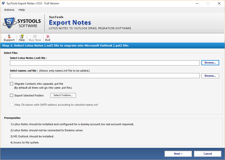 Run Export Notes Software