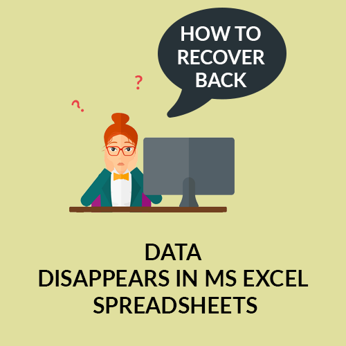 Data disappears in Excel