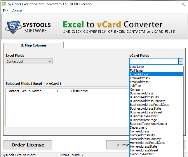 Export Office 365 Contact List to vCard (VCF) File Format