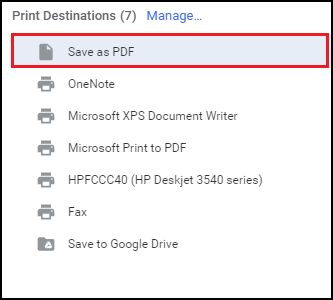 Save Gmail Email as PDF option