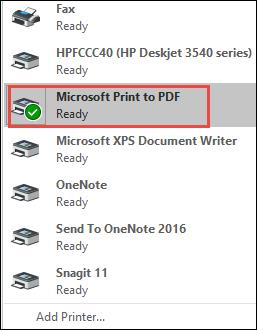 select print to pdf