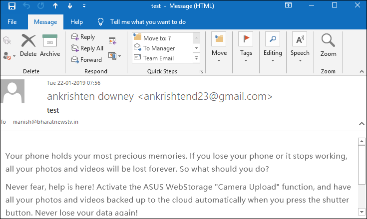 open email