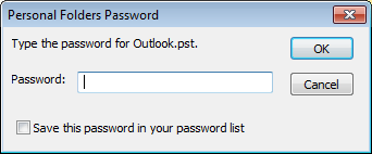 Reset PST Password from Protected File