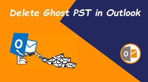delete ghost pst in outlook