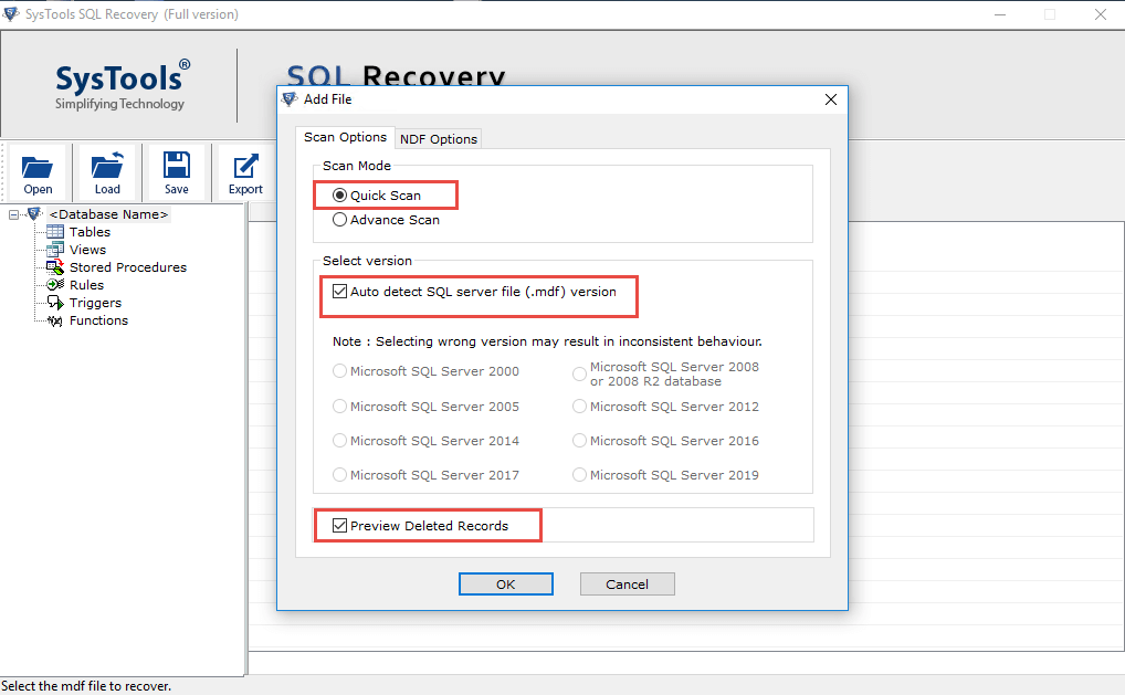 SQL Table Recovery