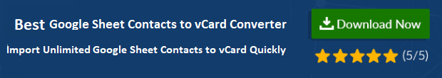 Export Google Sheet Contacts to vCard