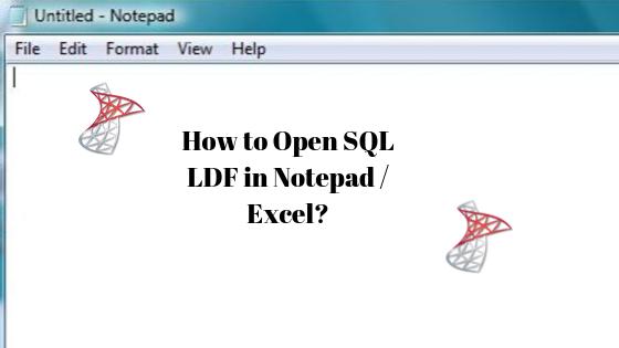 Open LDF in Notepad