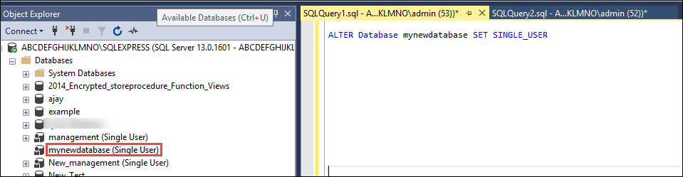 how to recover corrupted sql database