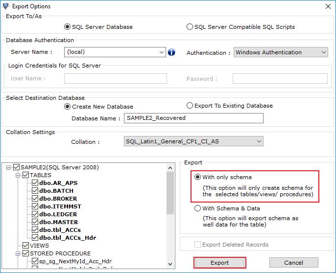 SQL Database Corruption Solution