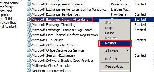 exchange server services
