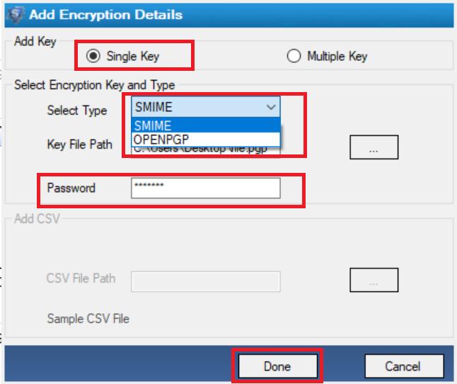 select single key