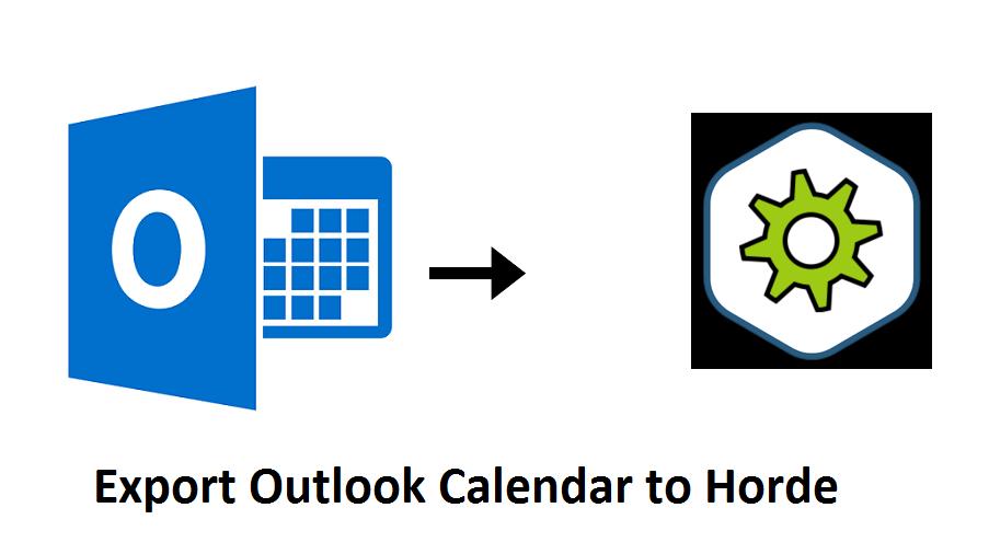 Export Outlook Calendar to Horde