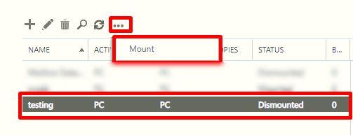 select dismount option