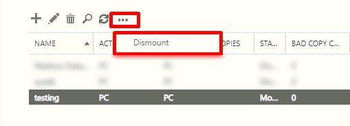 click on dismount button