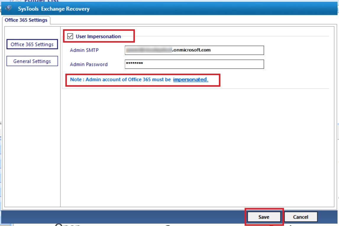 enter admin details